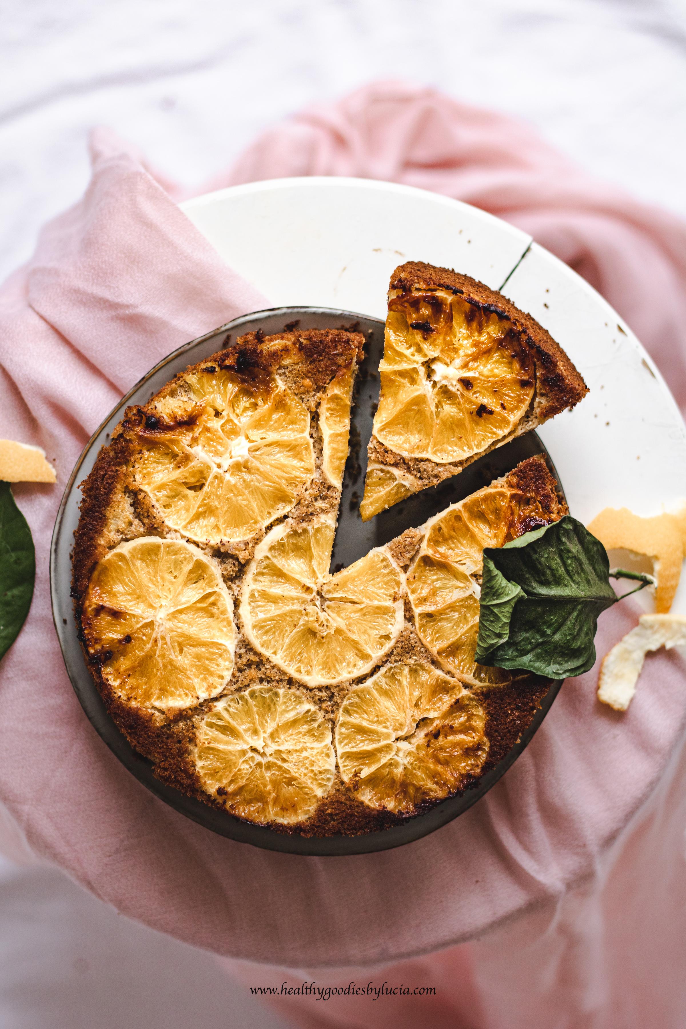 Gluten-free upside-down orange cake | Healthy Goodies by lucia