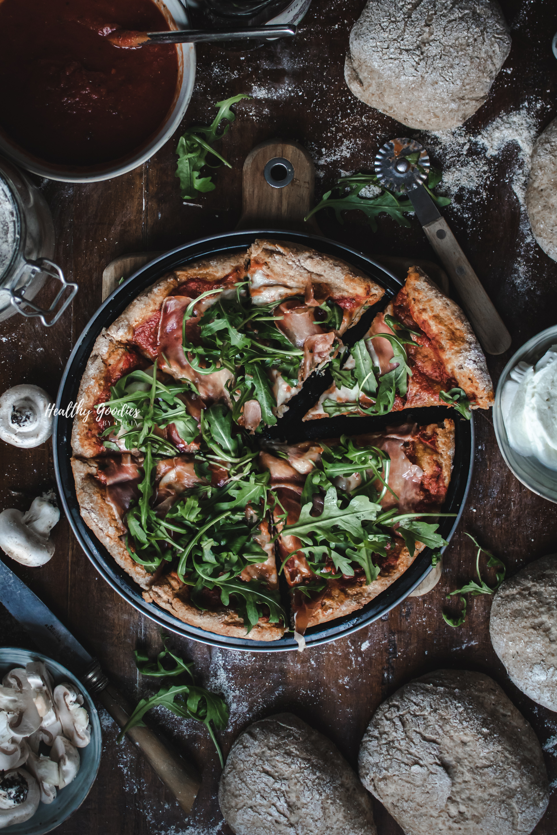 whole wheat pizza | Healthy Goodies by Lucia Marecak-0638