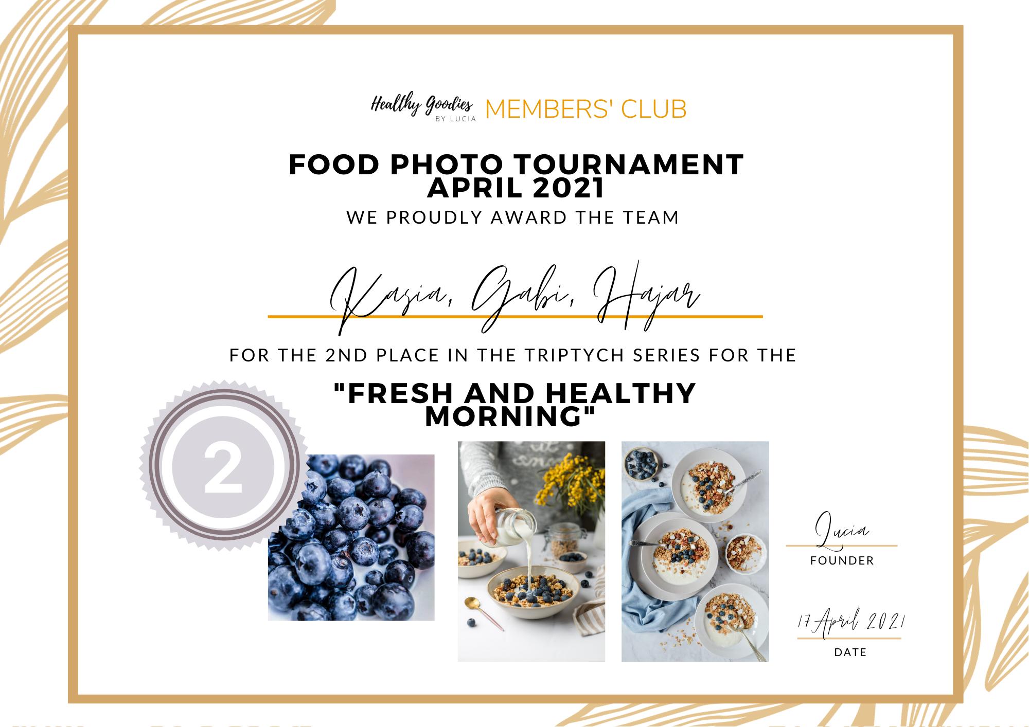 Second place - Food Photo Tournament