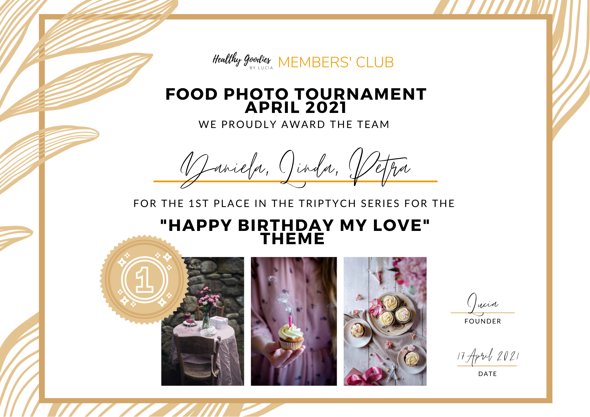 The first place - Food Photo Tournament
