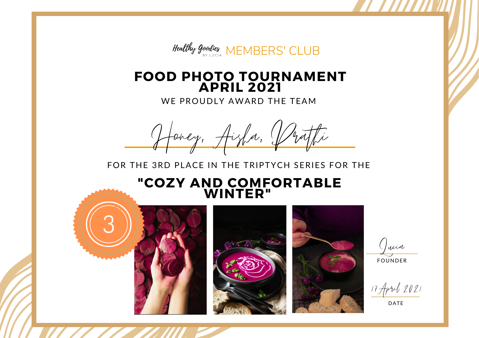 the third place - Food Photo Tournament